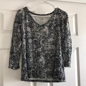 Black and white 100% cotton top